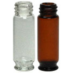 Vials aus Klarglas und Braunglas, chemiebeständig