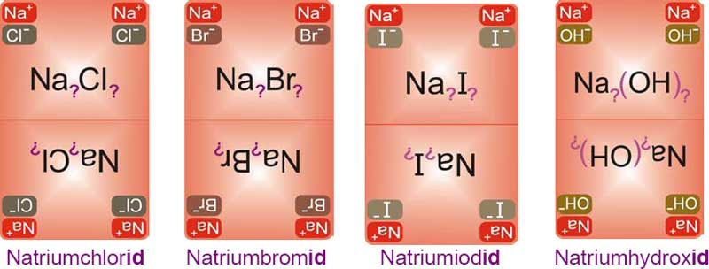 Beispiel Teilgruppe mit Anionen der Endung -id, Chemundo, Chemieschule