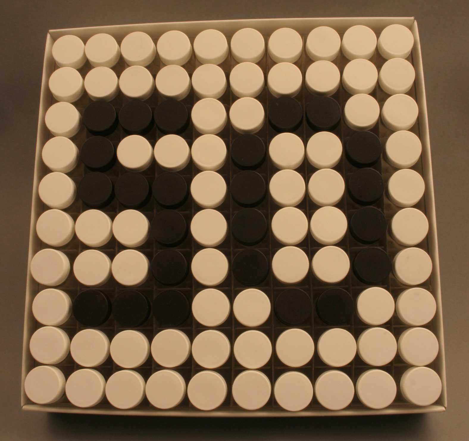 Aufbewahrungsflaschen farblich arrangiert Schnapsfläschen für Jubiläum