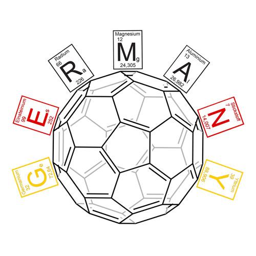 Chemie Fussball Motiv