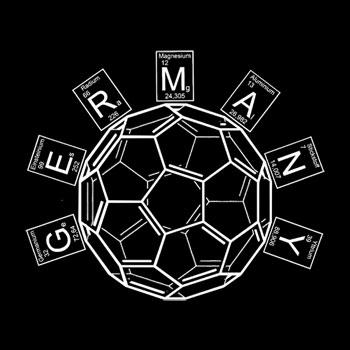 Chemie-Oberteile für Nerds Ausschnitt Chemie Fussball Fans Deutschland