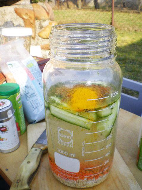 Frühstückszubereitung 2 - Outdoor Laborflasche GLS 80