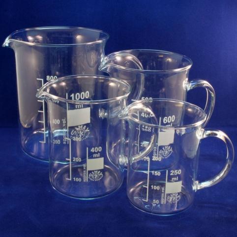 Bechergläser mit Henkel, Henkel-Bechergläser aus Borosilikatglas 3.3