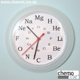 Wanduhr Chemiestunde