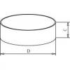 Skizze zu Abdampfschale aus Edelstahl flache Form