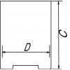 Skizze zu Abdampfschalen aus Edelstahl mit Kontaktboden