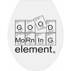 good morning elements - Sticker auf Klodeckel