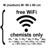 Chemie-Wandtatoo - free WiFi chemists only Größe M