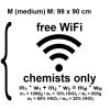 Chemie-Wandtatoo - free WiFi chemists only Größe M