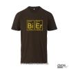 T-Shirt Bier Farbe: braun
