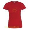 T-Shirt Koffein Doping Damen ziegelrot