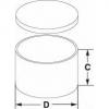 Skizze zu Deckelbüchsen aus Aluminium flache Form