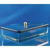 Desinfektionsschalen aus Glas mit Edelstahl-Knopfdeckel