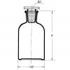 Enghals-Standflaschen mit Rundschulter Skizze