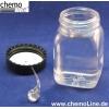 Mit Wasser* gefüllte Weithalsflasche mit gelochtem Deckel und einem BatavischenTropfen (Bologneser Träne) bereitlegen.