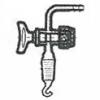 Absperrhan aus Glas für Vakuumexsikkatoren mit NS24 Tubus