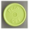 20mm Flip-Off Kappe, Mittelabriss, gelbgrün