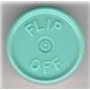 20mm Flip-Off Kappe, Mittelabriss, lichtblau