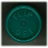 20mm Flip-Off Kappe, Mittelabriss, dunkelgrün
