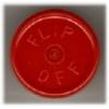 20mm Flip-Off Kappe, Mittelabriss, rot