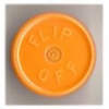 20mm Flip-Off Kappe, Mittelabriss, gelb