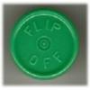 20mm Flip-Off Kappe, Mittelabriss, grün