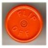 20mm Flip-Off Kappe, Mittelabriss, orange