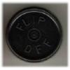 20mm Flip-Off Kappe, Mittelabriss, schwarz