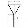 Laborglas-Trichter für Flüssigkeiten - Skizze