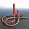 Sicherheitsschlauch für Labor-Gasbrenner mit Endmuffen und Bewehrung