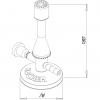 Skizze TECLU-Brenner mit Nadelventil nach DIN 30665