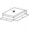Skizze zu Edelstahl-Instrumentenschalen mit Knopfdeckel