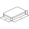 Skizze zu Edelstahl-Instrumentenschalen mit kurzem Stülpdeckel und abgerundeten Ecken