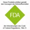 Messzylinder erfüllt die FDA-Anforderungen des Code of Federal Regulations, Title 21.