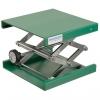 Labor-Hebebühnen aus Aluminium EPOXI pulverbeschichtet (grün)  mit Stellrad und Edelstahlscheren