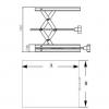 Skizze Labor-Hebebühnen aus Aluminium mit Stellrad