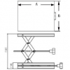 Skizze Labor-Hubtisch aus Edelstahl / Sketch laboratory lifting table made of stainless steel