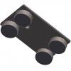Labor Edelstahlstativplatten von unten / Laboratory stainless steel tripod plates from underneath