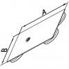 Skizze Labor Edelstahlstativplatten / Sketch laboratory stainless steel plates