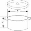 Aluminium Labortopf als Heizbadgefäß für Magnetrührer