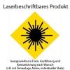 lasergravierbar mit Firmenlogo, Name, individueller Skala...
