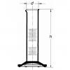 Skizze Glas-Messzylinder niedrige Form der Klasse DIN B