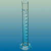 Messzylinder, Klasse A, hohe Form aus SIMAX-Klarglas und blauer Graduierung