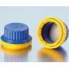 Originalitätsverschluss DURAN GL45 mit Silikon/PTFE Dichtung, blau/gelb