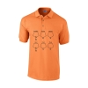 Farbe: orange 5-Ring Heterocyclen-Poloshirt