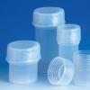 VITLAB® Probendosen mit flüssigkeitsdichten Schraubkappen aus dem Fluorkunststoff PFA.
