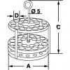 Skizze zu Edelstahl-Reagenzglasgestellen rund