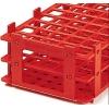 Preisgünstige rote Reagenzglasständer aus PP-Kunststoff