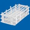 weiße PP-Reagenzglasständer sind geeignet zum Temperieren von Reagenzgläsern und Proberöhrchen  im Wasserbad