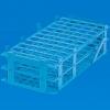 blaue PP-Reagenzglasständer sind geeignet zum Temperieren von Reagenzgläsern und Proberöhrchen im Wasserbad